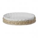 Midollino, Supporto arezzo teglia crostata Cm. 32 - La Porcellana Bianca