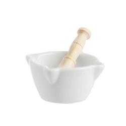 Preparazione, Mortaio mignon c/pestello legno Cm. 6 - La Porcellana Bianca