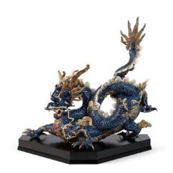 Gran dragone (blu smalti) - Lladrò