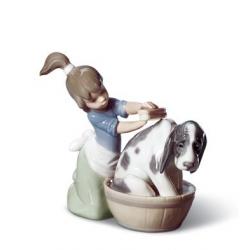 Il bagno del cane - Lladrò