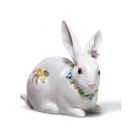 Coniglio con fiori - Lladrò