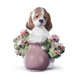 Cane tra i fiori - Lladrò