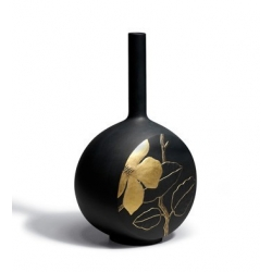 Canvas vase flower twig (black) - Lladrò