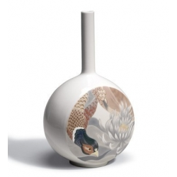 Canvas vase bird scene - Lladrò