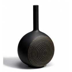 Canvas vase tree rings (black) - Lladrò