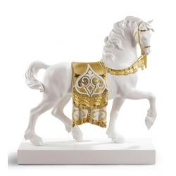 A regal steed (re-deco golden) - Lladrò