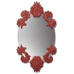 Specchio ovale senza cornice (rosso) - Lladrò