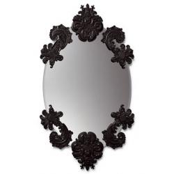 Specchio ovale senza cornice (nero) - Lladrò