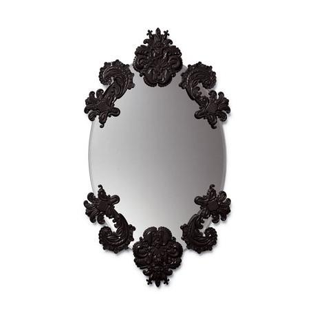 Specchio ovale senza cornice nero lladr idea regalo - Specchio senza cornice ...