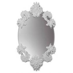 Specchio ovale senza cornice (bianco) - Lladrò
