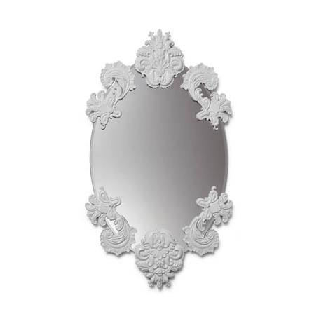 Specchi Senza Cornice Prezzi.Specchio Ovale Senza Cornice Bianco Lladro Idea Regalo Design