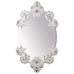 Specchio ovale senza cornice(bian./arg.) - Lladrò