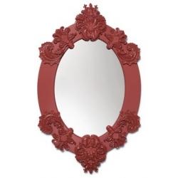 Specchio ovale (rosso) - Lladrò