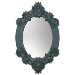 Specchio ovale (verde) - Lladrò