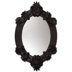 Specchio ovale (nero) - Lladrò