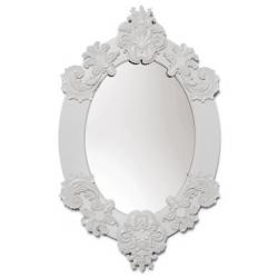 Specchio ovale (bianco) - Lladrò
