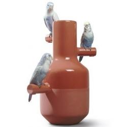Parrot parade (corallo) - Lladrò
