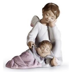 Il mio angelo custode (rosa) - Lladrò