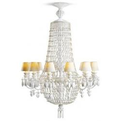 Winter palace chand 12 lampade, bianco - Lladrò