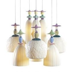 Candeliere mademoiselle 9 lampade sognando di fronte al mare - Lladro'