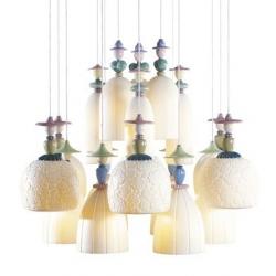 Candeliere mademoiselle 18 lampade ballando sulla sabbia - Lladro'