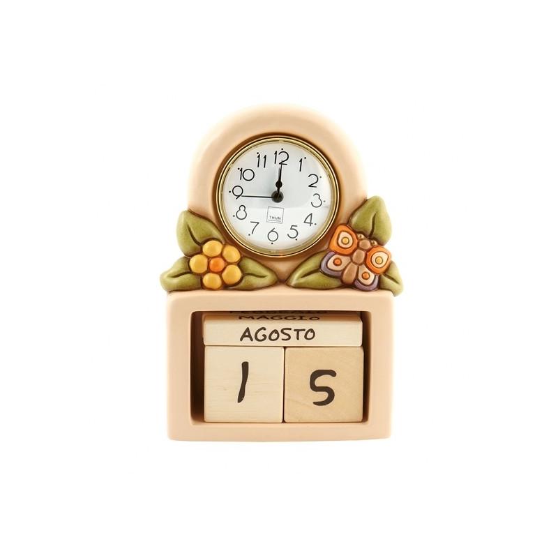 Thun Calendario.Calendario Perpetuo Con Orologio Country Thun Idea Regalo Design