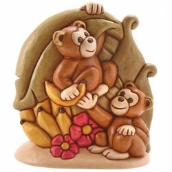 Scimmiette con palma - Thun