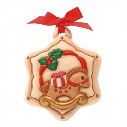 Formella Natale stella con cavalluccio - Thun