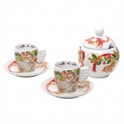 Confezione 2 tazzine espresso con zuccheriera Dolce Natale - Thun