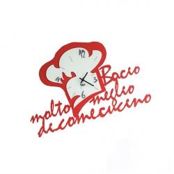 Orologio Chef in Love, Rosso - Arti e Mestieri