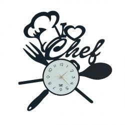 Orologio I Love Chef, Nero - Arti e Mestieri