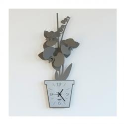 Orologio Orchidea Parete, Fango - Arti e Mestieri
