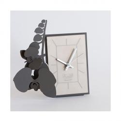 Orologio Orchidea Tavolo, Fango - Arti e Mestieri