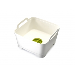 Wash&drain, Bacinella con valvola bianca - Joseph Joseph