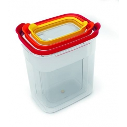 Nest storage, Set di 3 contenitori impilabili - Joseph Joseph