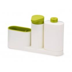 SinkBase Plus, Organizer per il lavello bianco/verde - Joseph Joseph