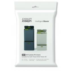 Intelligent waste - Refill, Sacchetti plastica per pattumiera unità di riciclaggio con raccolta differenziata - Joseph Joseph