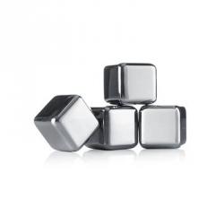 Whiskey stones, Set 4 cubetti ghiaccio in acciaio - Vacu Vin