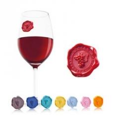 Glass marker cera lacca, Set 8 marcatori per bicchieri - Vacu Vin