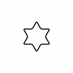 Tagliabiscotto stella a 6 punte Cm. 4 - Kaiser