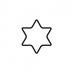 Tagliabiscotto stella a 6 punte Cm. 6 - Kaiser