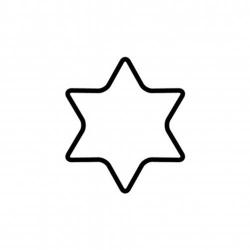 Tagliabiscotto stella a 6 punte Cm. 8 - Kaiser