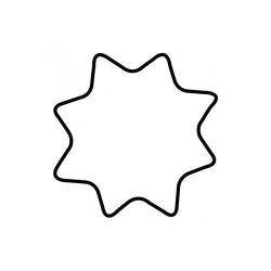 Tagliabiscotto stella a 8 punte Cm. 4 - Kaiser