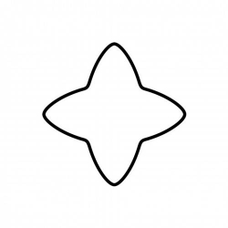 Tagliabiscotto stella 4 punte Cm. 6 - Kaiser