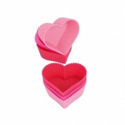 Pirottini in silicone cuore pezzi 6, Love - Kaiser