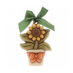 Formella media vasetto di fiori - Thun