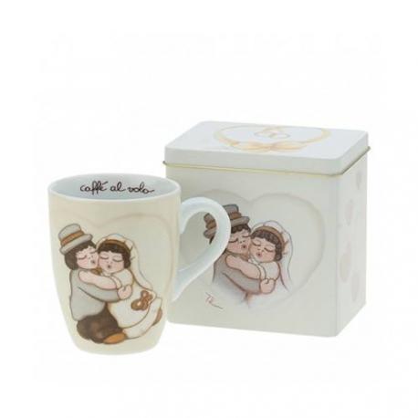Mug con scatola in latta Sposini - Thun