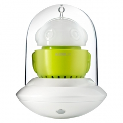 Ufo, Lampada portatile, verde e bianco - Alessi