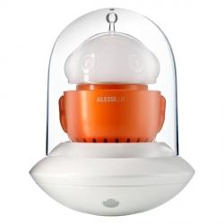 Ufo, Lampada portatile, arancio e bianco - Alessi