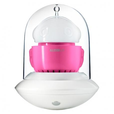 Ufo, Lampada portatile, rosa e bianco